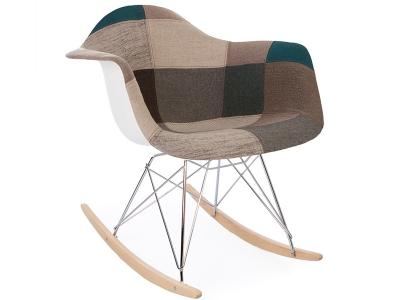 Bild von Stuhl-Design Eames Schaukelstuhl RAR - Blau Patchwork