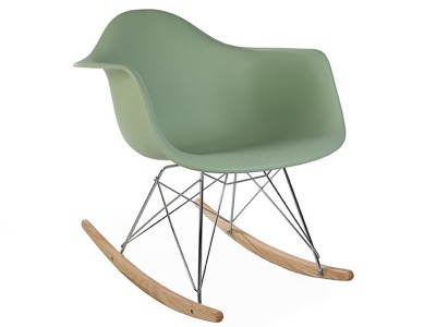 Bild von Stuhl-Design Eames Schaukelstuhl RAR - Mandel grün