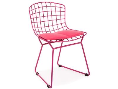 Bild von Stuhl-Design Kinder Bertoia Wire Side Stuhl - Rosa