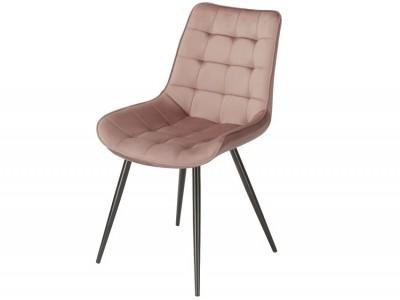 Bild von Stuhl-Design Orville Lisboa Chair - Rosa Samtstoff