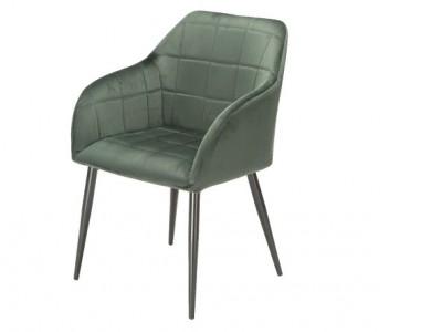 Bild von Stuhl-Design Orville Luca Chair - Grünes Samtstoff
