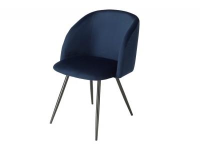 Bild von Stuhl-Design Orville Vesper Chair - Blaues Samtstoff