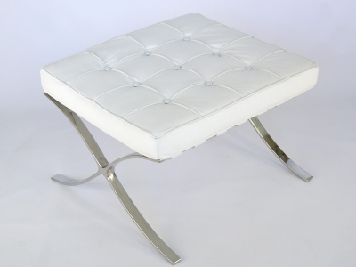 Bild von Stuhl-Design Ottoman Barcelona - Weiß