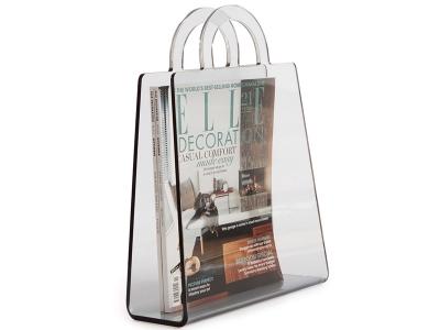 Bild von Stuhl-Design Zeitungsständer Handbag - Rauchgrau
