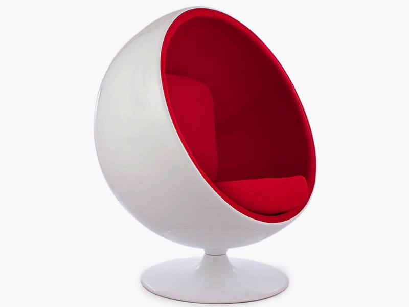 Image du fauteuil design Chaise Ball Eero Aarnio - Rouge