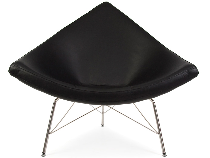 Chaise coconut nelson noir for Chaise salon noir