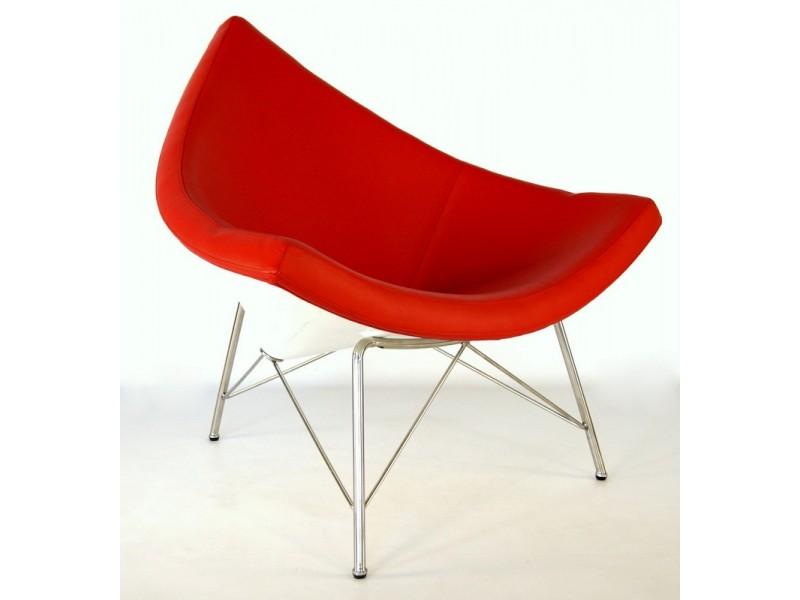Image du fauteuil design Chaise Coconut Nelson - Rouge
