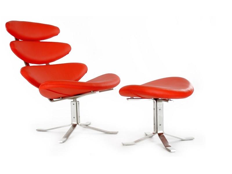 Image du fauteuil design Chaise Corona PK - Rouge