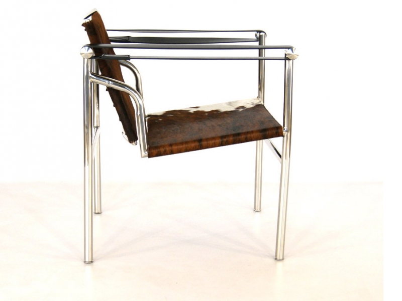 Image du fauteuil design Chaise LC1 Le Corbusier - Pony marron