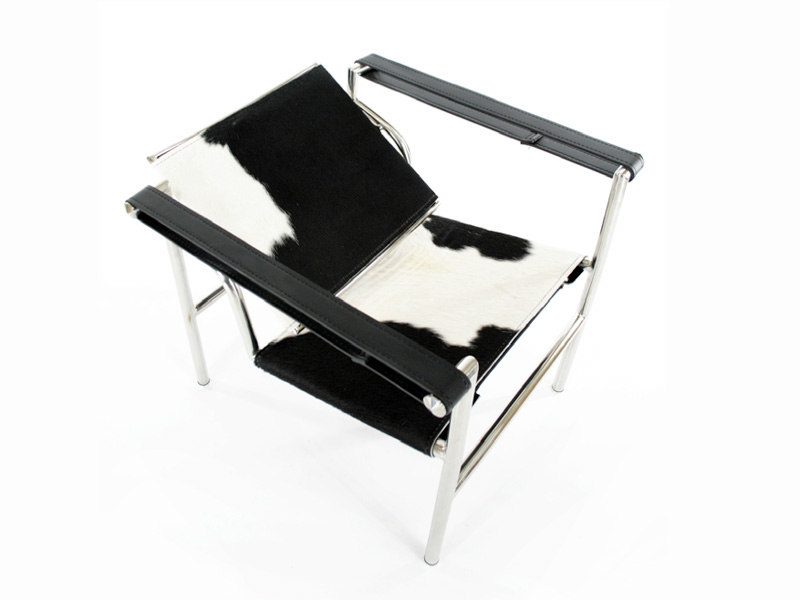 chaise lc1 le corbusier pony noir. Black Bedroom Furniture Sets. Home Design Ideas