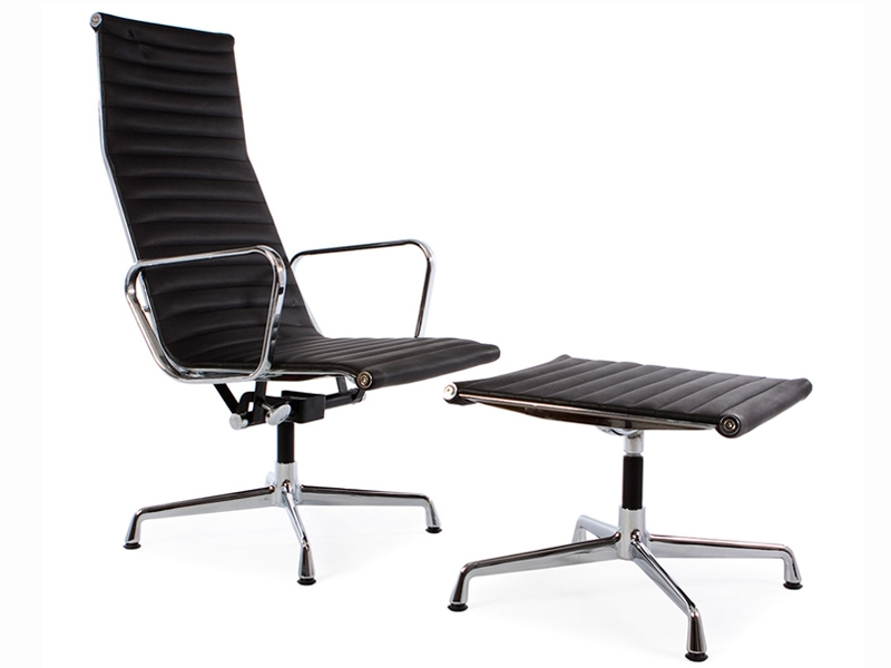 Chaise lounge ea124 noir for Chaise salon noir