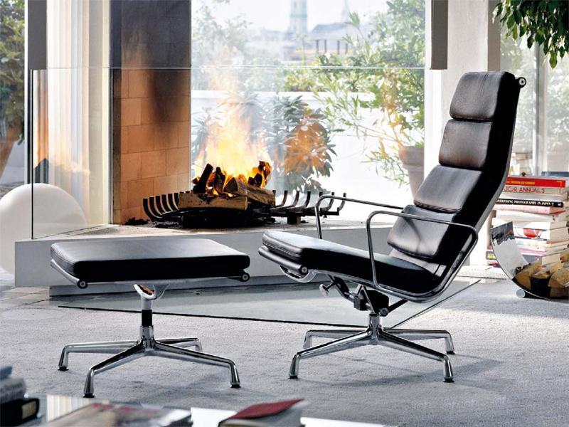 Image du fauteuil design Chaise Lounge EA222 - Noir