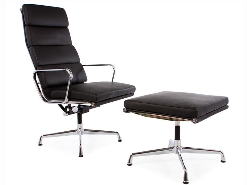 chaise lounge ea222 noir. Black Bedroom Furniture Sets. Home Design Ideas