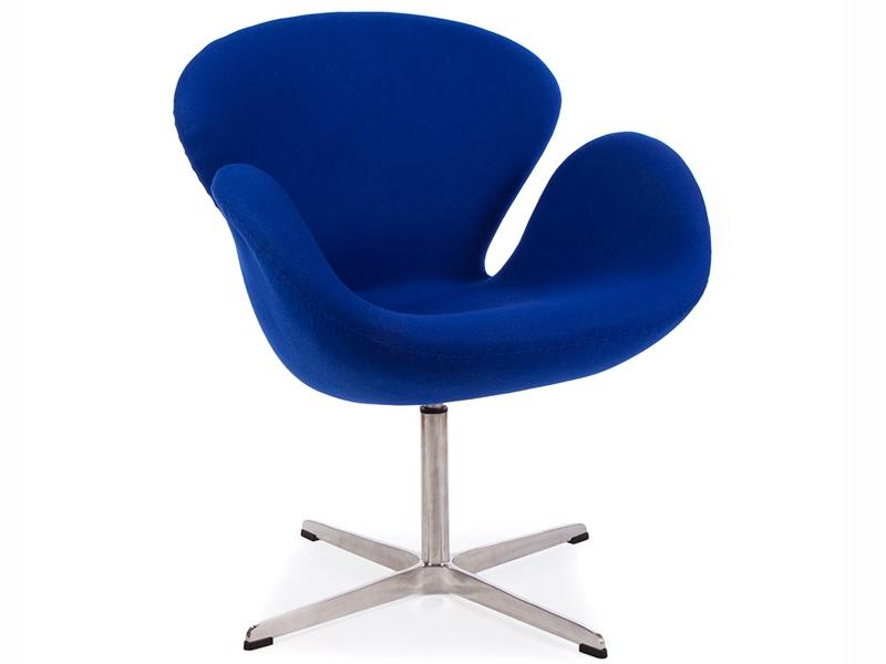 Image du fauteuil design Chaise Swan Arne Jacobsen - Bleu