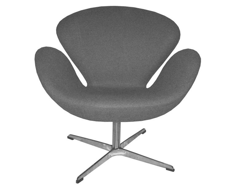 chaise swan arne jacobsen gris. Black Bedroom Furniture Sets. Home Design Ideas