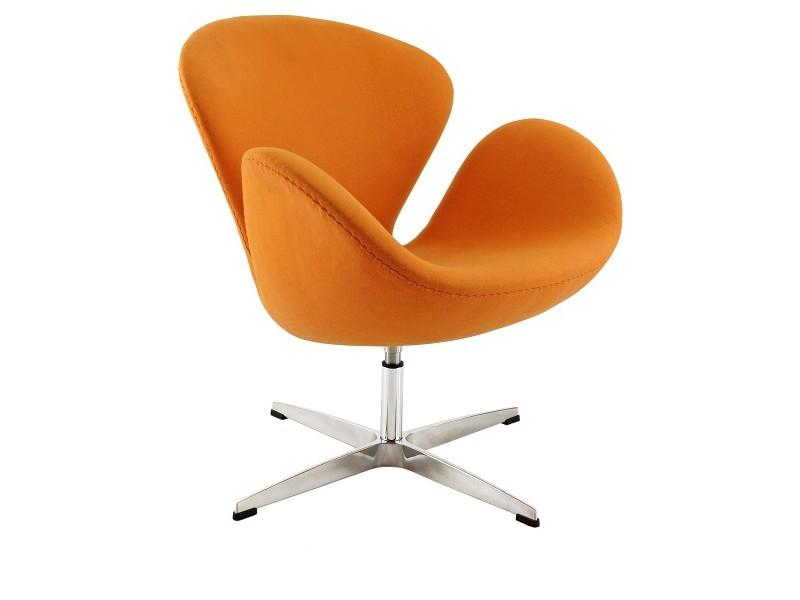 Image du fauteuil design Chaise Swan Arne Jacobsen - Orange