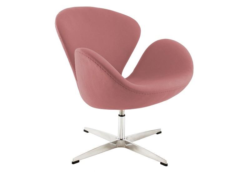 Image du fauteuil design Chaise Swan Arne Jacobsen - Rose pâle