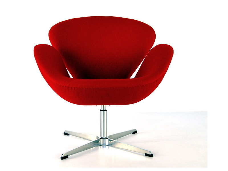 chaise swan arne jacobsen rouge. Black Bedroom Furniture Sets. Home Design Ideas