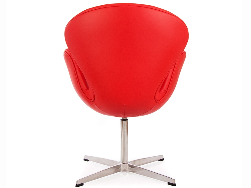 Chaise swan arne jacobsen rouge for Chaise design rouge