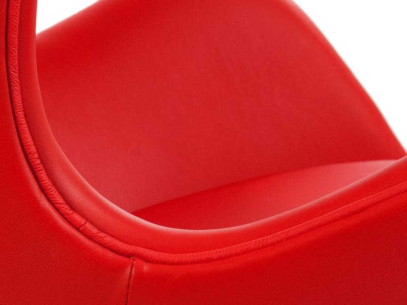 Image du fauteuil design Egg Arne Jacobsen - Rosso