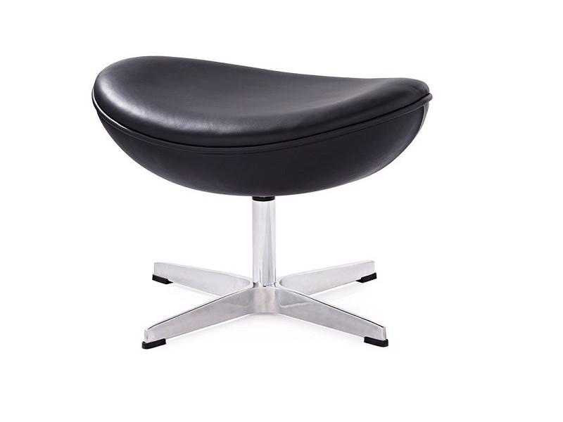 Image du fauteuil design Egg Ottoman Arne COSYSEN - Noir