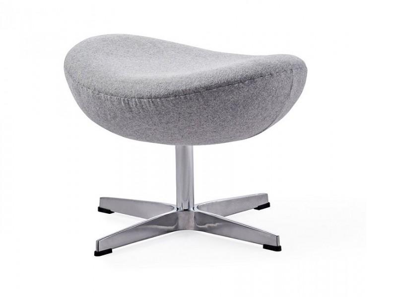 Image du fauteuil design Egg Ottoman Arne Jacobsen - Grigio chiaro