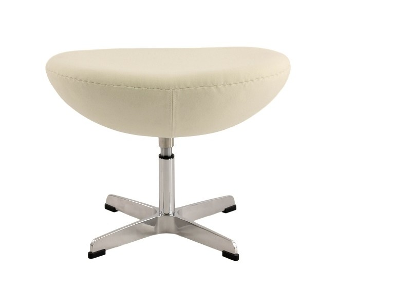 Image du fauteuil design Fauteuil Egg AJ - Blanc crème