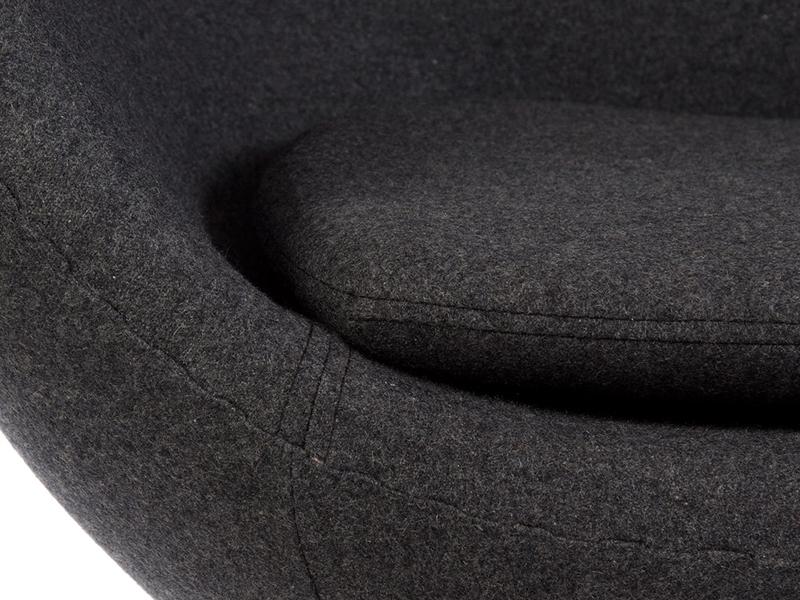 Image du fauteuil design Fauteuil Egg AJ - Gris foncé