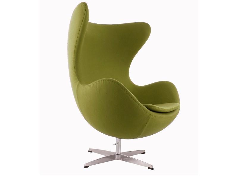 Image du fauteuil design Fauteuil Egg AJ - Vert olive