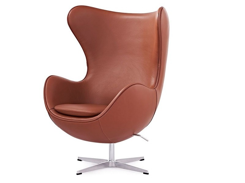 Image du fauteuil design Fauteuil Egg Arne COSYSEN - Cognac