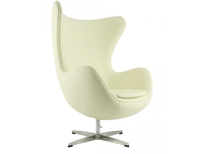 Image du fauteuil design Fauteuil Egg Arne Jacobsen - Blanc crème