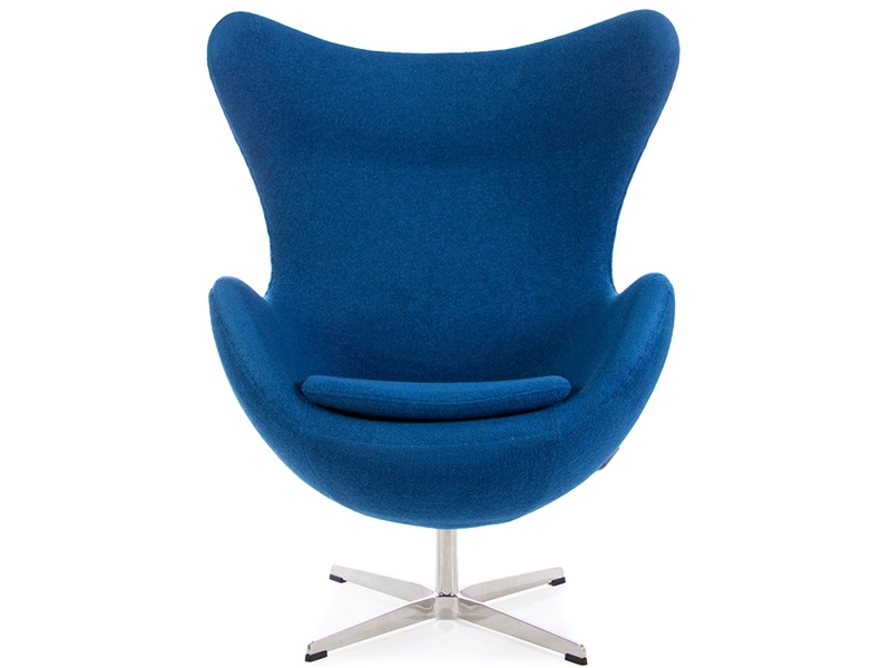 fauteuil egg arne jacobsen bleu. Black Bedroom Furniture Sets. Home Design Ideas