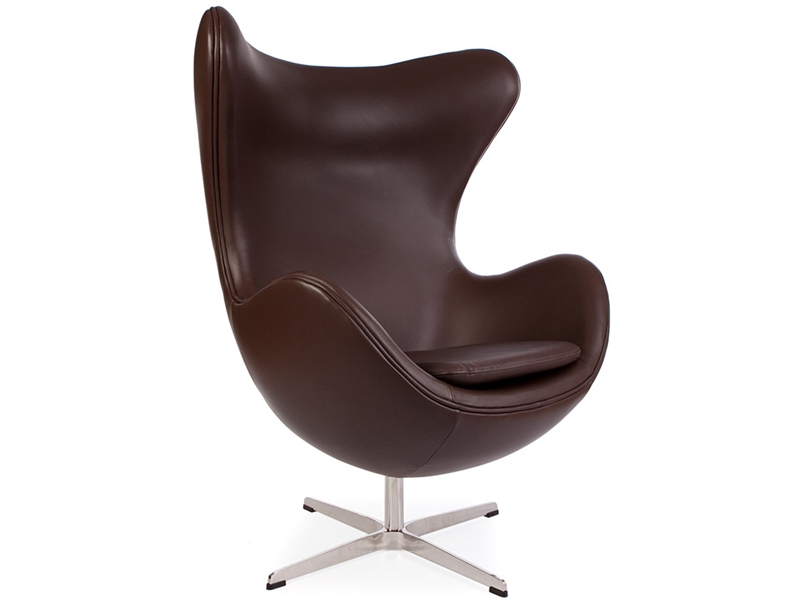 fauteuil egg arne jacobsen marron. Black Bedroom Furniture Sets. Home Design Ideas