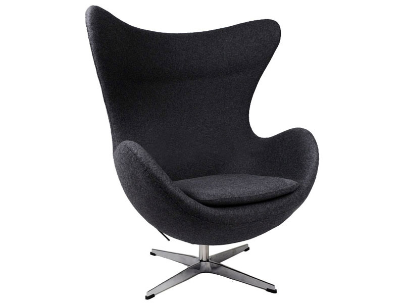 fauteuil egg arne jacobsen noir. Black Bedroom Furniture Sets. Home Design Ideas