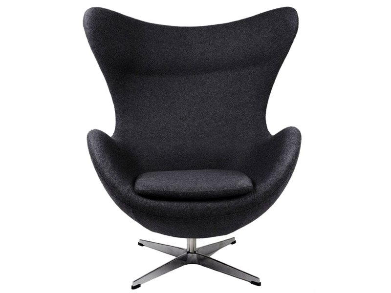 fauteuil egg arne jacobsen noir. Black Bedroom Furniture Sets. Home Design Ideas
