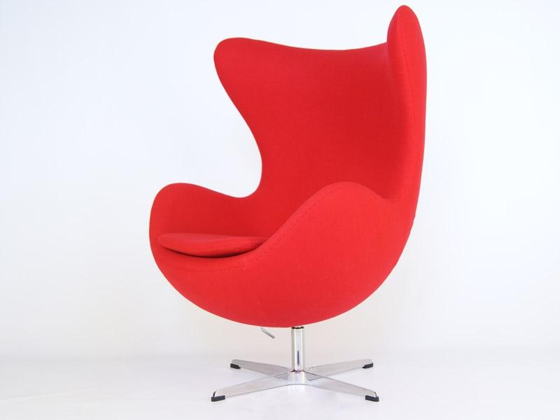 fauteuil egg arne jacobsen rouge. Black Bedroom Furniture Sets. Home Design Ideas