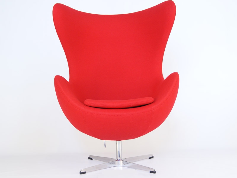 fauteuil egg arne jacobsen rouge. Black Bedroom Furniture Sets. Home Design Ideas