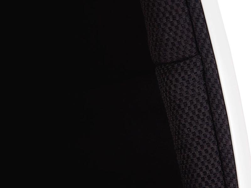 Image du fauteuil design Fauteuil Egg ovale - Noir