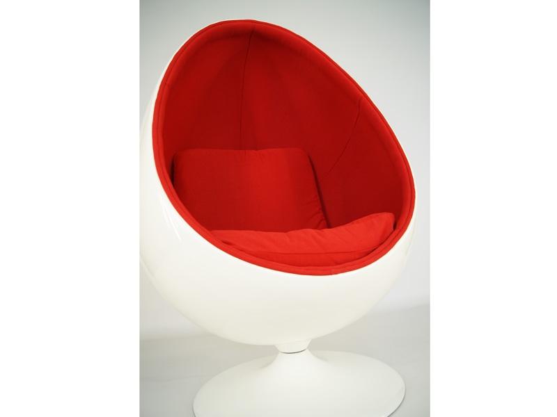 fauteuil egg ovale rouge. Black Bedroom Furniture Sets. Home Design Ideas
