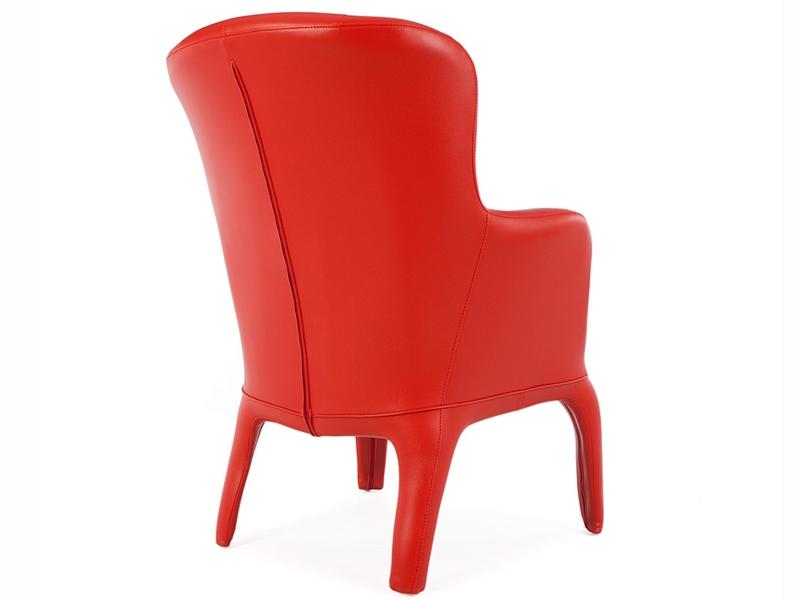 Image du fauteuil design Fauteuil Henry - Rembourré Rouge