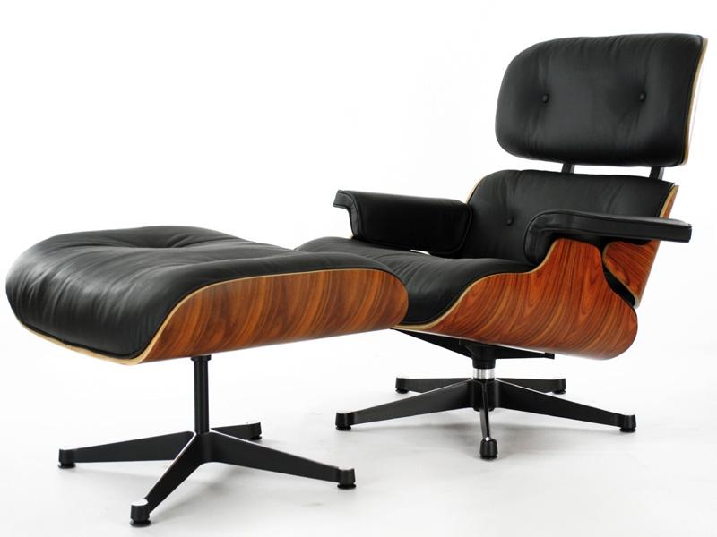 Fauteuil lounge eames bois de rose - Fauteuil cuir design italien ...