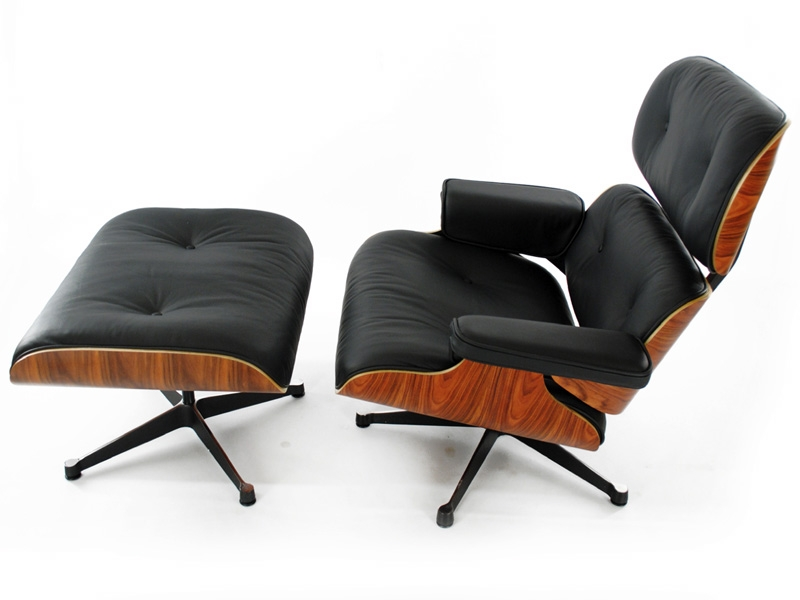 fauteuil lounge eames bois de rose. Black Bedroom Furniture Sets. Home Design Ideas
