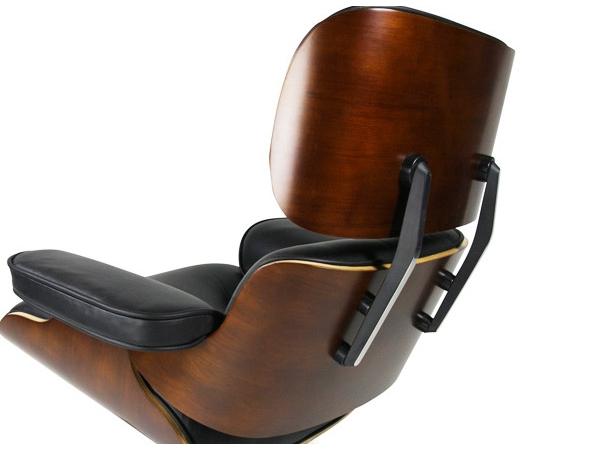Fauteuil lounge eames noyer for Reproduction fauteuil eames