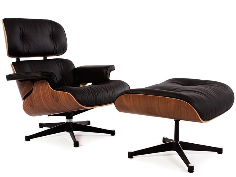 fauteuil lounge eames noyer. Black Bedroom Furniture Sets. Home Design Ideas