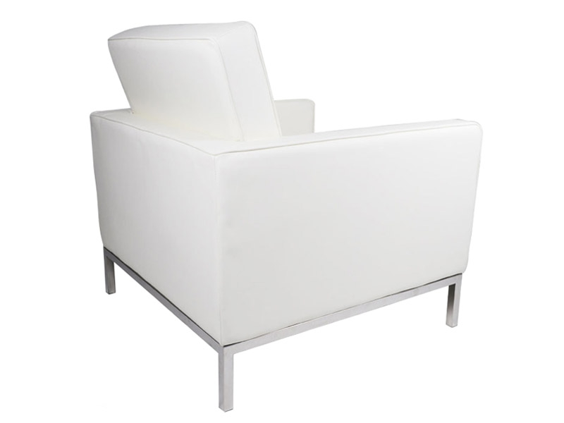 fauteuil lounge knoll blanc. Black Bedroom Furniture Sets. Home Design Ideas