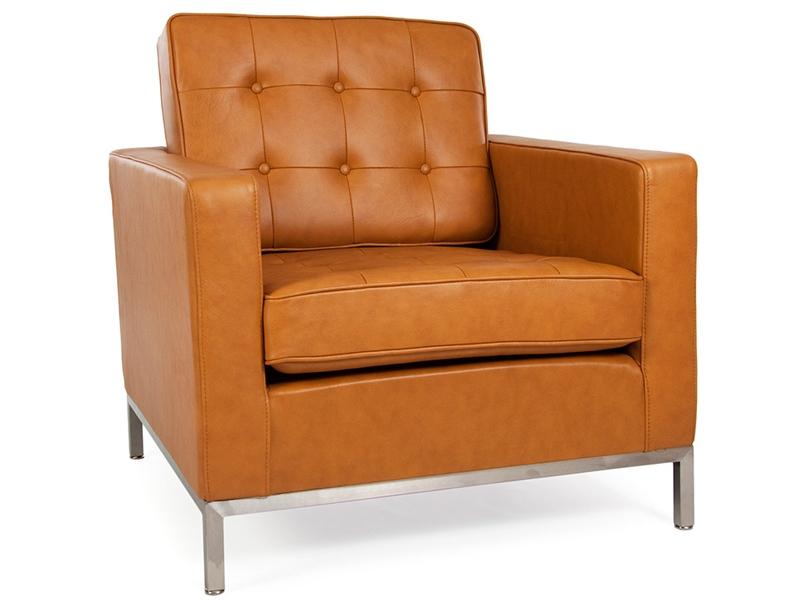 fauteuil lounge knoll caramel. Black Bedroom Furniture Sets. Home Design Ideas