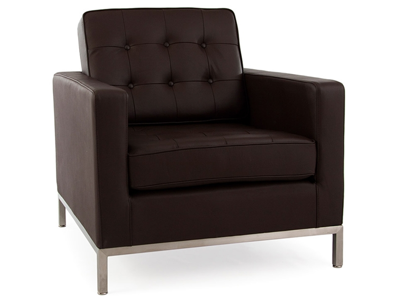fauteuil lounge knoll marron. Black Bedroom Furniture Sets. Home Design Ideas