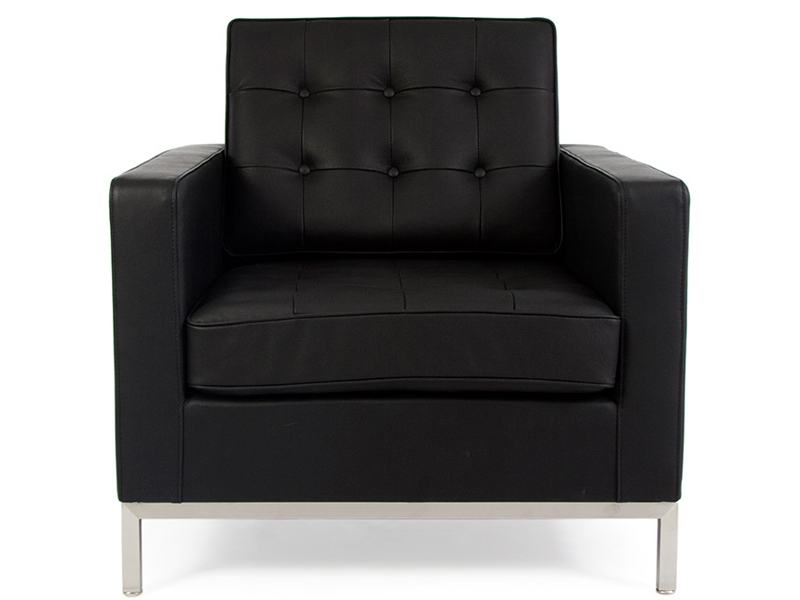 fauteuil lounge knoll noir. Black Bedroom Furniture Sets. Home Design Ideas