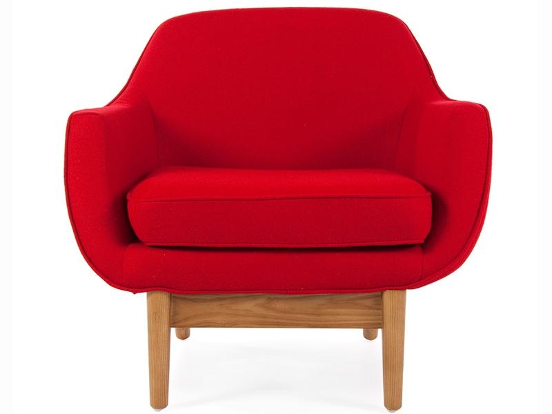 fauteuil lusk rouge. Black Bedroom Furniture Sets. Home Design Ideas