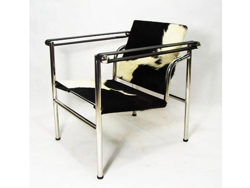 lc1 chaise le corbusier pony noir. Black Bedroom Furniture Sets. Home Design Ideas